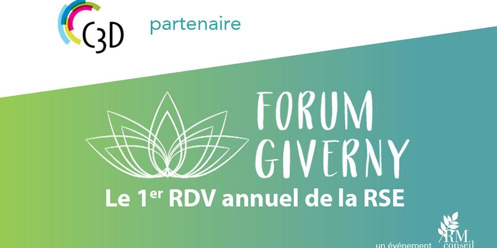 Le C3D partenaire de la 1ère édition du Forum de Giverny en septembre prochain