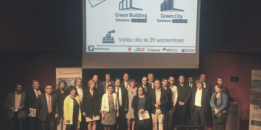 Découvrons les 7 lauréats français des Green Building Solutions Awards 2016