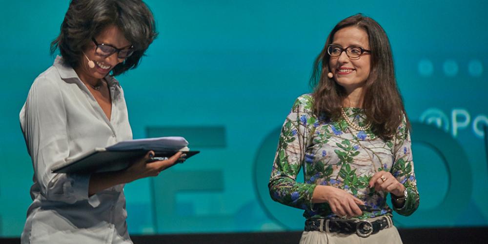 Hélène Valade rappelle l'enjeu de la COP22 lors du Positive Economy Forum 2016