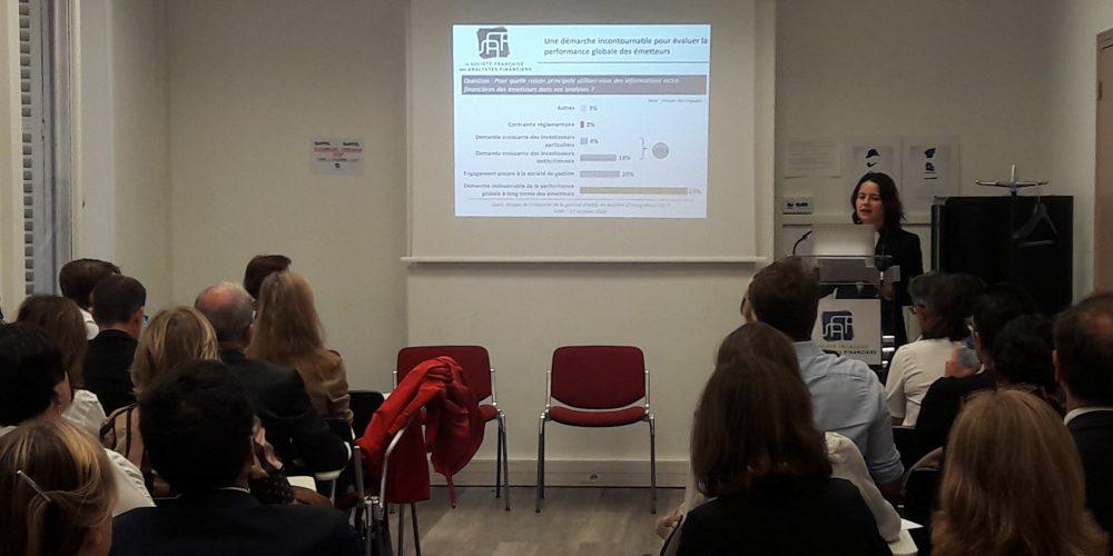 Intégration de l'information extra-financière par les analystes et les gérants : Résultats du baromètre SFAF
